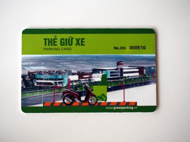 駐車場のカード