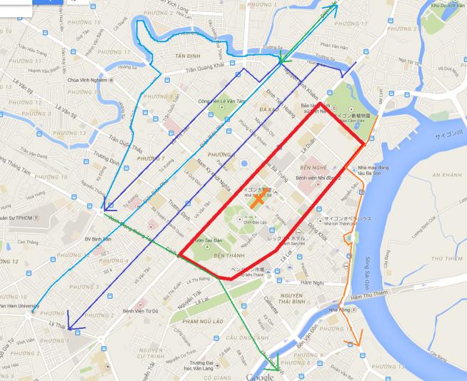 通行止め地域と抜け道マップ