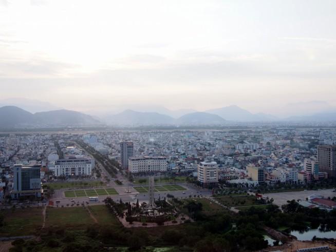 西側の景色