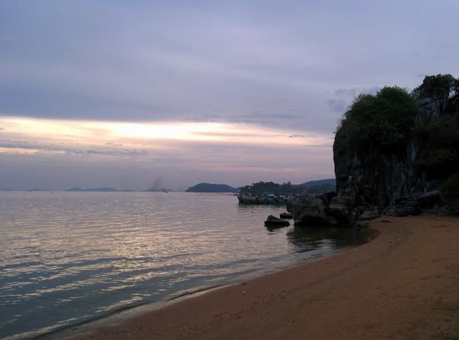 ベトナムの砂浜