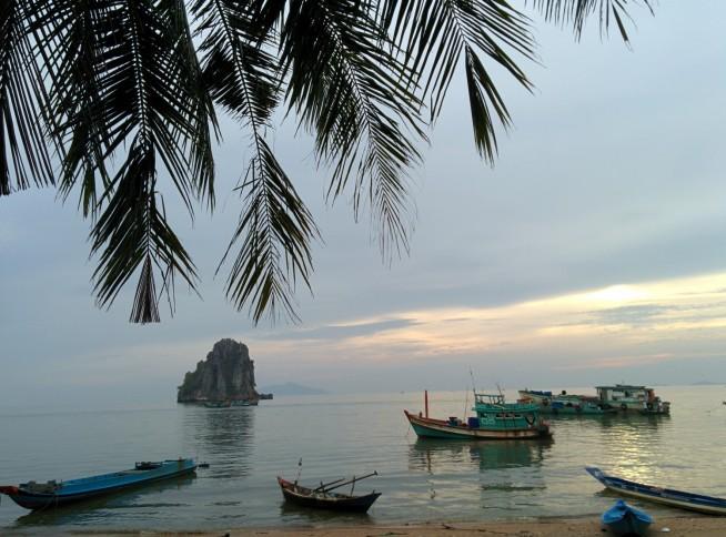 とても静かな海