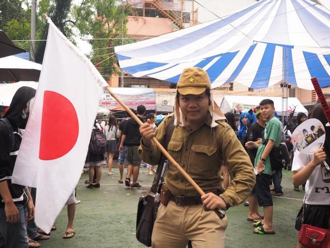こんなところに日本兵!笑