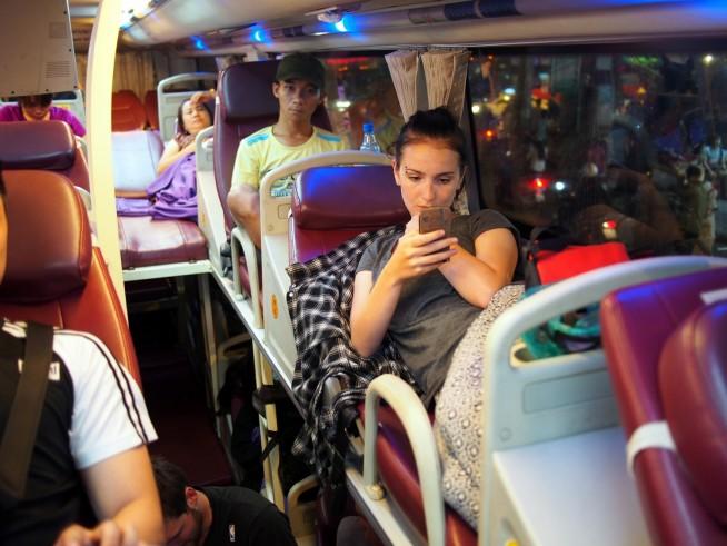 ベトナムの寝台バス