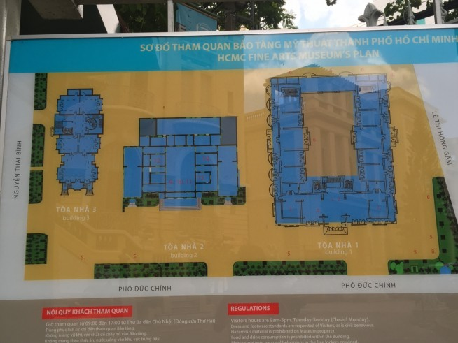 3つの建物です。この図だと入り口は右下あたりです。