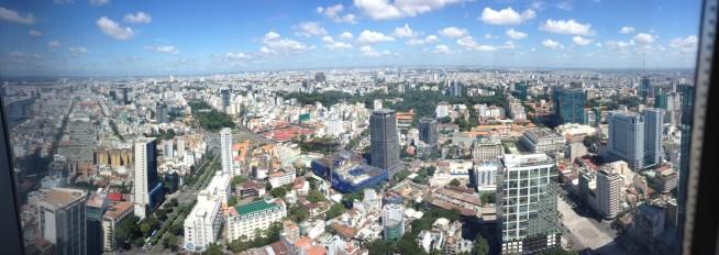 展望台から見下ろすベトナム・ホーチミン市