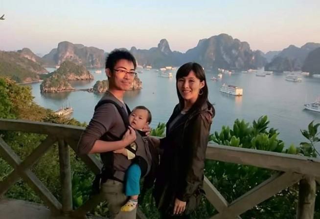 再就活中の2015年お正月、ベトナム北部のハロン湾にて家族と