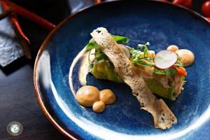 アサヒ蟹、エビ、アボカドサラダとElevenソース