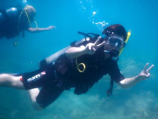 ベトナムでダイビング