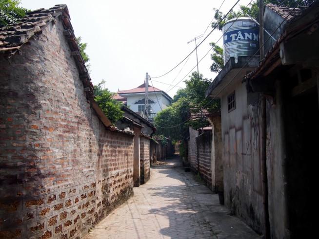 古いレンガの町並み