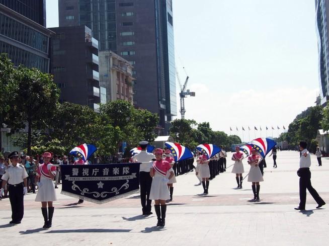 警視庁音楽隊によるパレード