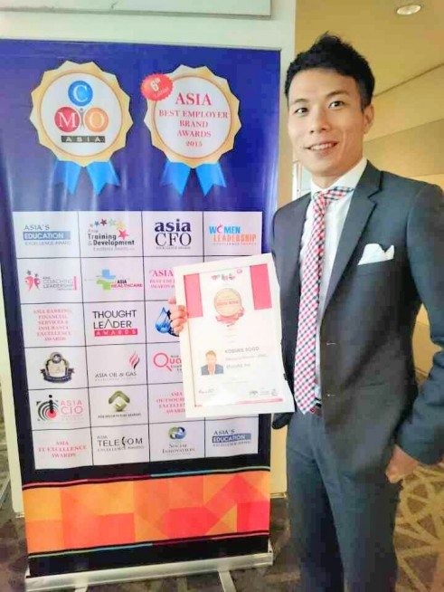 「Asia's Most Influential Digital Marketing Professional」を日本人として唯一受賞した時の様子