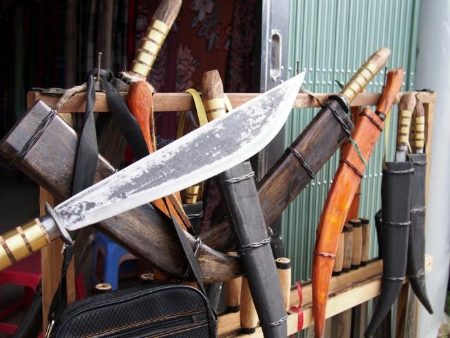この地で使われいる刀など