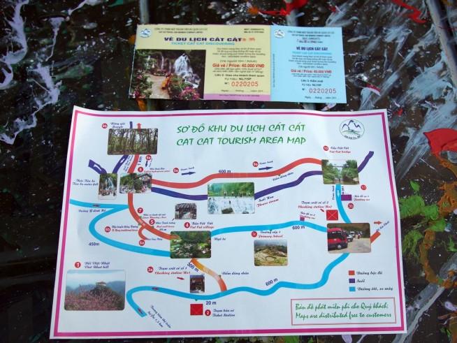 カットカット村の地図
