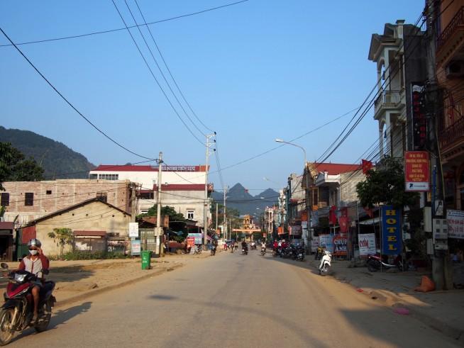 カオバン省グエンビン町(Thị Trấn Nguyên Bình)