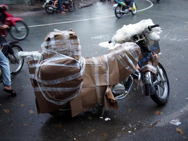 ハノイから雨のホーチミンに到着した時の様子
