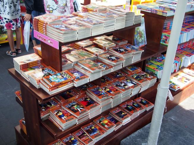 やはり日本の漫画は人気です