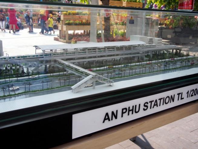 メトロ1号線の駅模型