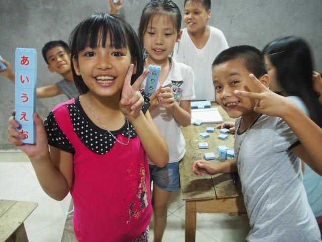 日本語教室の子どもたち