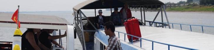 メコン川を上って船でベトナムからカンボジアへ国境を越えちゃいました