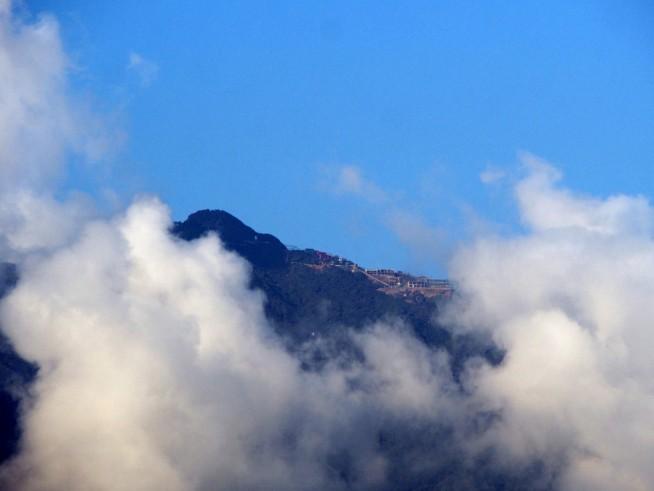 山頂が見えた!
