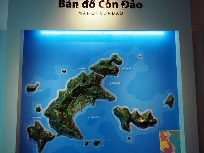 コンダオ諸島の地図