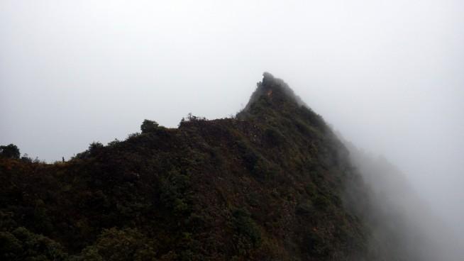 タースア山(Núi Tà Xùa)の尾根