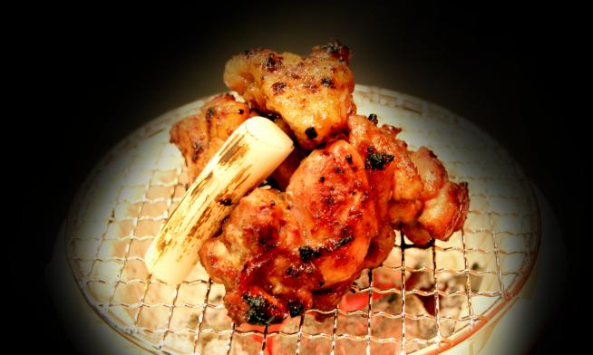 地鶏の特製タレ焼