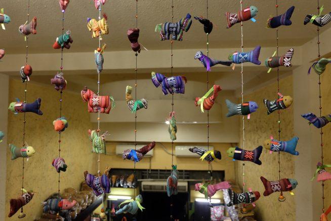 動物の吊るし飾り