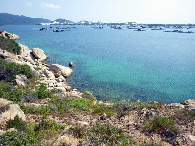 とても海が綺麗なくじら島