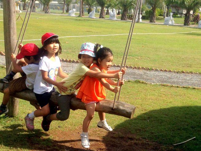 近隣の公園に遊びに行くこともしばしば。
