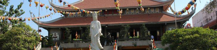 ホーチミンの寺院といったら永厳寺(ヴィンギエム寺)、なんと日本との縁もあるお寺なのです