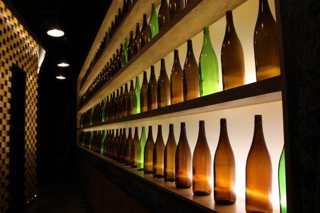 酒瓶がオシャレ