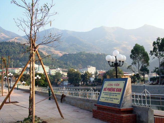 ソンラ省120週年を記念してできたばかりの公園