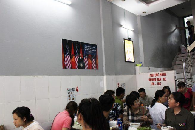 壁にオバマ米大統領の写真が!