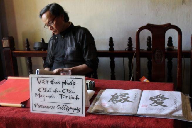 Vietnamese Calligraphyと書いてある