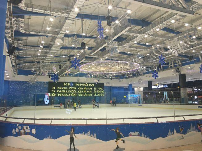 ビンコムプラザのアイススケートリンク