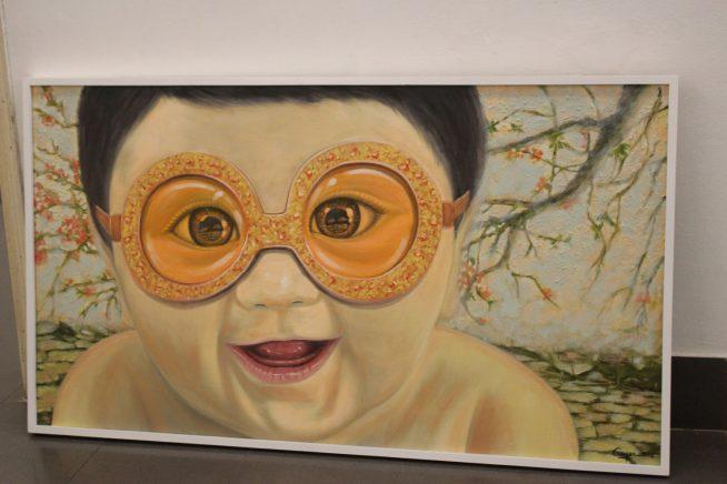展示される絵画