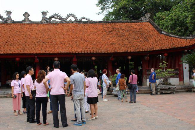 文廟境内の広場