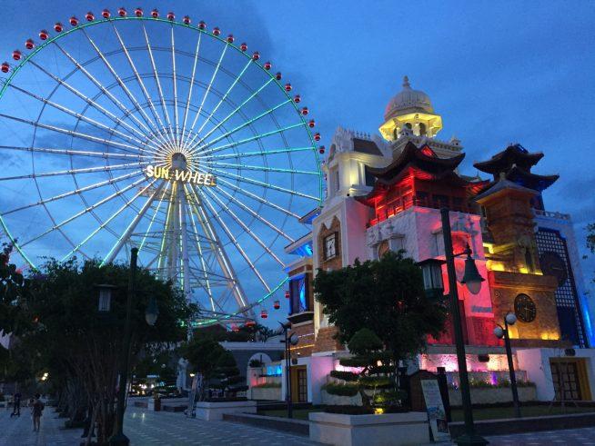 夕暮れ時のアジアパーク