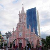 フランス統治時代のパステルピンクの美しい教会「ダナン大聖堂」へ行ってみよう!