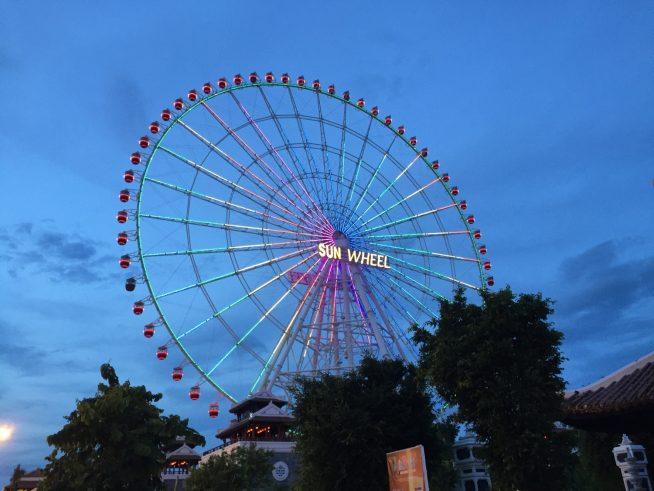 世界第4位の115mの高さを誇る観覧車(sun wheel)