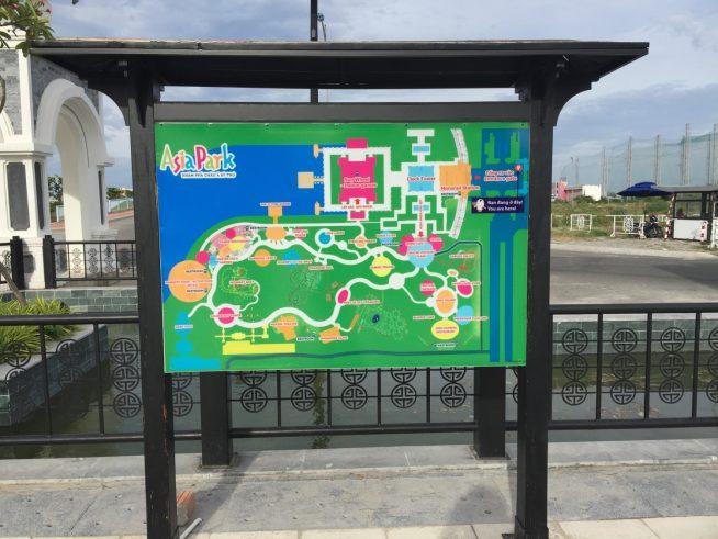 アジアパーク内の全体地図