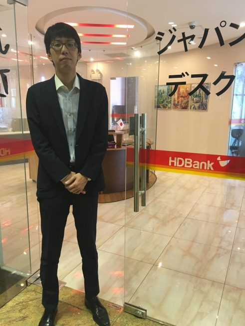 HD BANKジャパンデスクの駐在員 柴田隼人さん