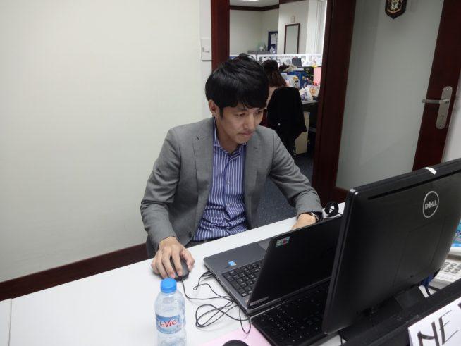 オフィスでの村田さん