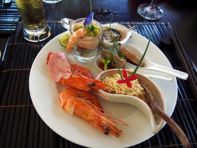 新鮮な魚介を使用した、高級感のあるお料理
