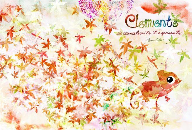 016年10月にイタリアのNUINUIから出版された絵本 Clemente il camaleonte trasparente
