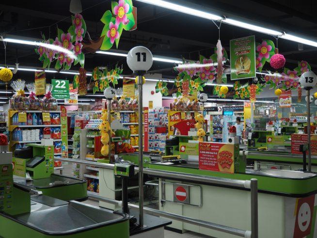 Big Cの大型スーパーがあるので、食料品、日用雑貨は豊富です。