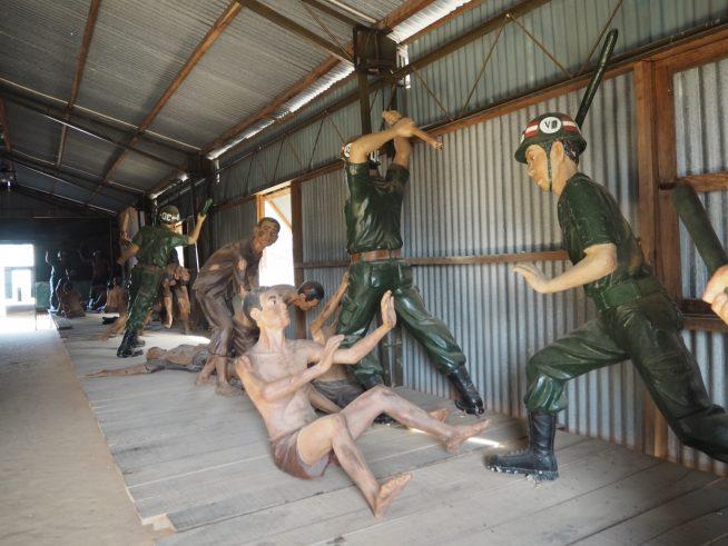 当時の拷問の様子等を人形で再現してあります。