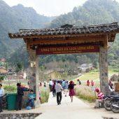 ハザン省にあるルンカム文化観光村でベトナム山岳地帯の暮らしに触れる
