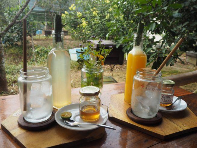 メニューはもちろん農園でとれた蜂蜜を使ったドリンク。